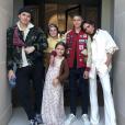 Victoria Beckham et ses quatre enfants. Avril 2017.