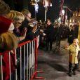 Le prince Albert II et la princesse Charlene de Monaco, avec leur fils le prince Jacques, ont participé aux célébrations de Sainte Dévote dans la soirée du samedi 26 janvier 2019. Après la procession et la messe, ils ont incendié la barque commémorant la légende de la patronne de la principauté. ©Jean-François Ottonello/Bestimage