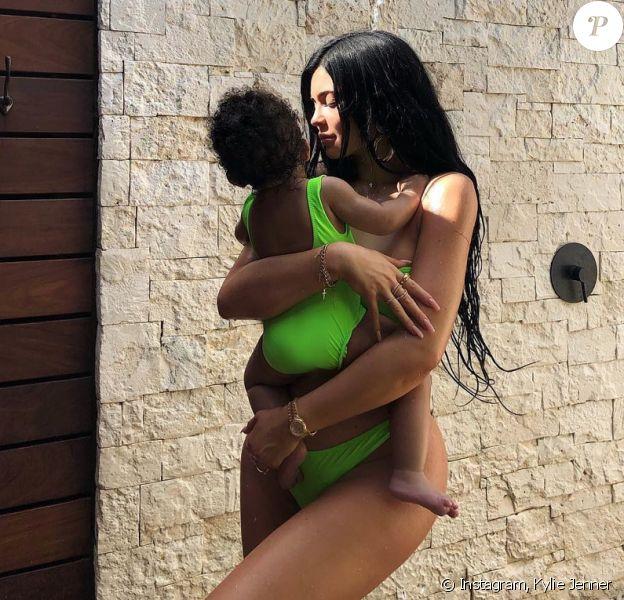 Kylie Jenner et sa fille Stormi. Janvier 2019.