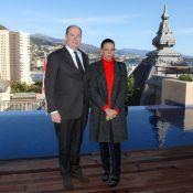Stéphanie et Albert de Monaco sur les toits de Monaco pour leur père