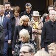 La première dame Brigitte Macron lors des obsèques de Michel Legrand en la cathédrale orthodoxe Saint-Alexandre-Nevsky à Paris, le 1er février 2019