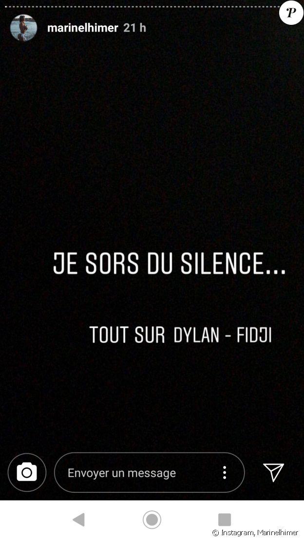 """Dylan de """"Koh-Lanta"""" accusé d'être manipulateur par son ex Marine - Instagram, 31 janvier 2019"""