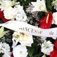 Gerbe provenant de la famille royale de Monaco - Obsèques du comte de Paris en la chapelle Royale Saint-Louis à Dreux, France, le 2 février 2019. © Alain Guizard/Bestimage