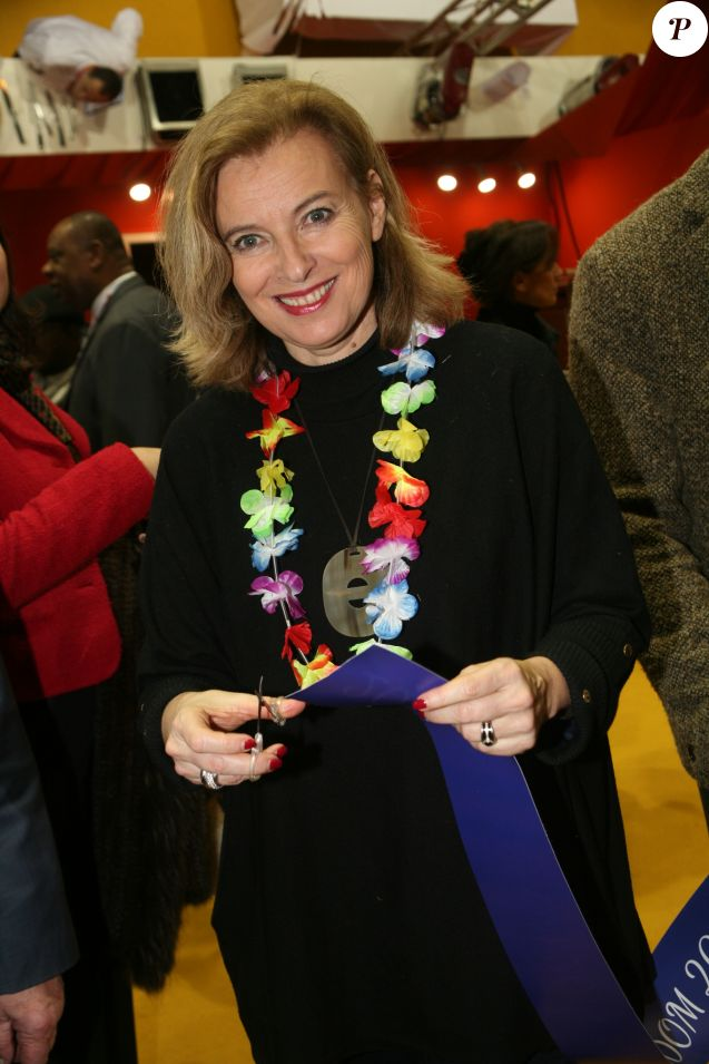 Valérie Trierweiler à l'ouverture de la 4ème édition du salon de la Gastronomie des Outre-Mer et de la francophonie (SAGASDOM) au Paris Expo Porte de Versailles à Paris, France, le 1er février 2019. © JLPPA/Bestimage