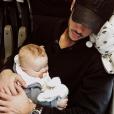 Hugo Philip en route pour Londres avec le petit Marlon, le 6 février 2019.