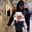 Hugo Philip et son petit Marlon en route pour Londres le 6 février 2019.