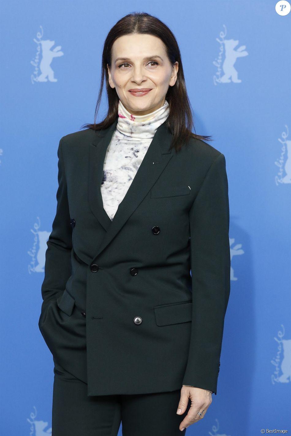 Photocall avec Juliette Binoche , présidente du jury de la compétition long-métrage du 69ème festival du film de Berlin (Berlinale 2019) à l'hôtel Grand Hyatt à Berlin le 7 février 2019.