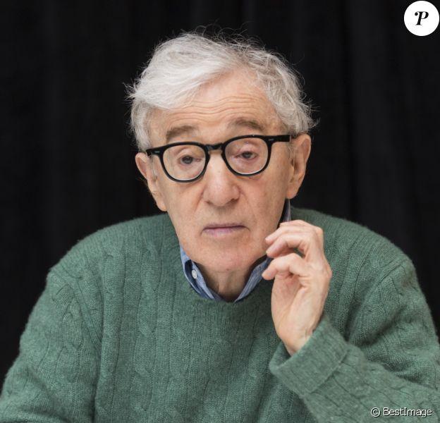 """Woody Allen - Conférence de presse avec les acteurs du film """"Wonder Wheel"""" à New York. Le 14 octobre 2017"""