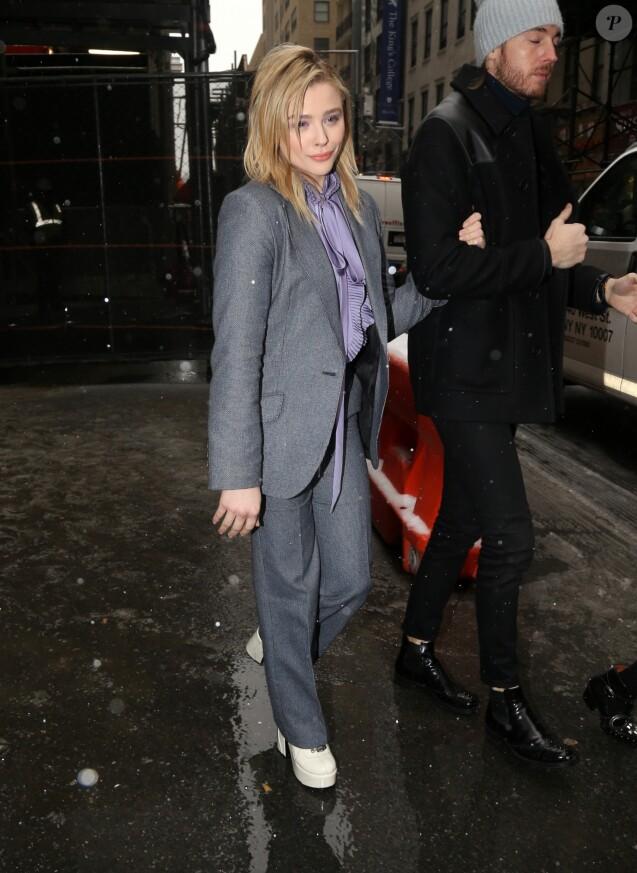 Chloë Grace Moretz à l'issue du défilé de mode Coach lors de la Fashion Week à New York, le 12 février 2019