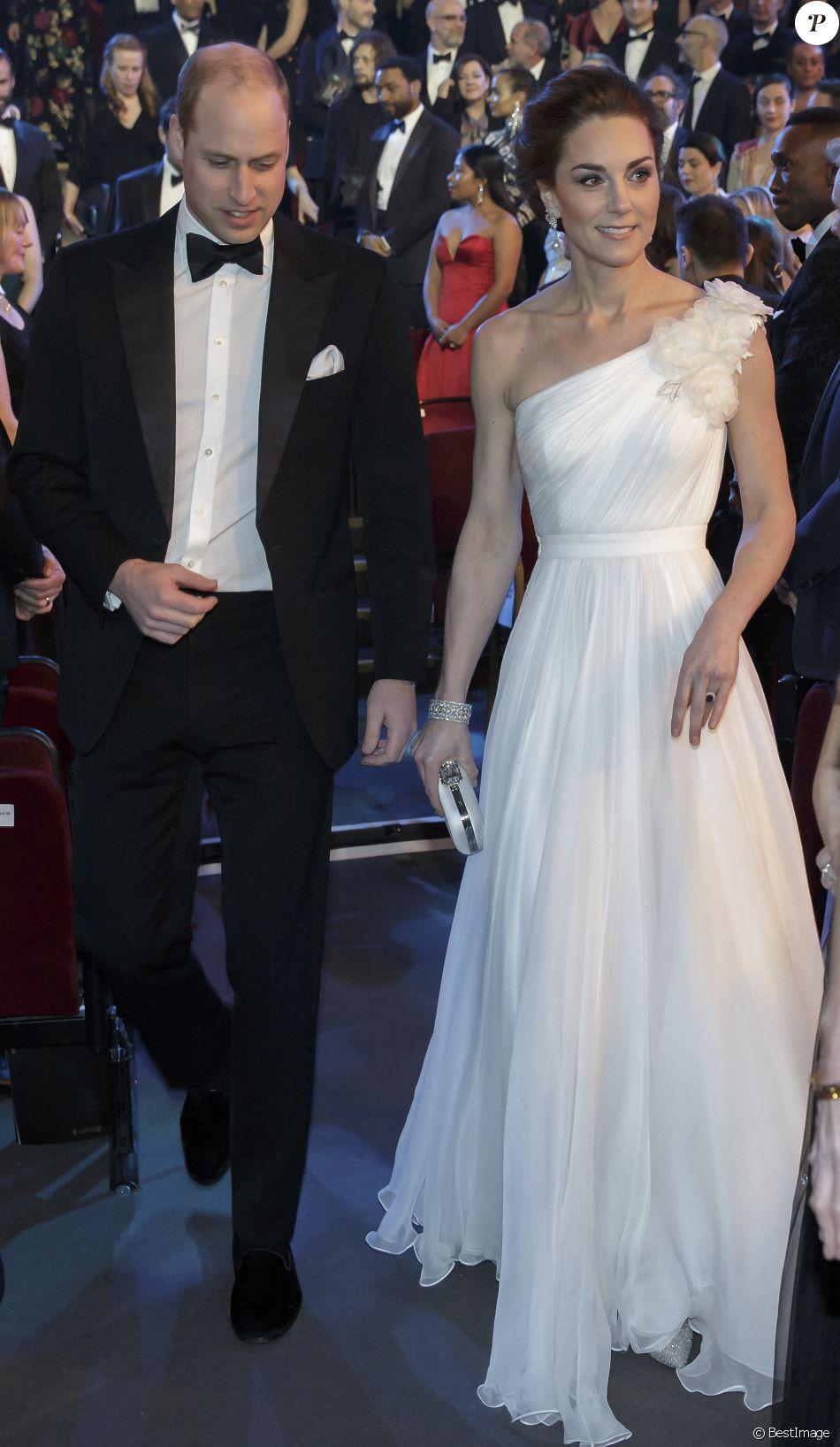 Le prince William et Catherine Kate Middleton, la duchesse de Cambridge lors de la 72ème cérémonie annuelle des BAFTA Awards au Royal Albert Hall à Londres, le 10 février 2019.