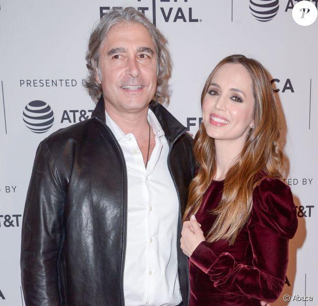 Eliza Dushku et Peter Palandjian au Festival du Film de Tribeca à New York, le 22 avril 2018.