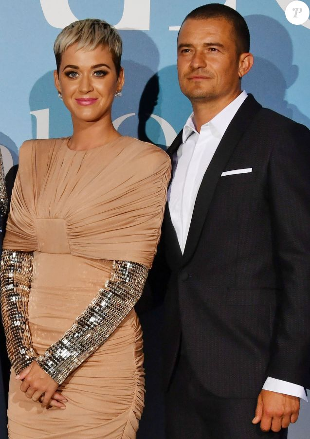 "Orlando Bloom et sa compagne Katy Perry lors de la 2ème édition du ""Monte-Carlo Gala for the Global Ocean"" à l'opéra de Monte-Carlo à Monaco, le 26 septembre 2018. © Bruno Bébert/Bestimage"