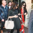 Meghan Markle, duchesse de Sussex, enceinte, est allée déjeuner avec son amie Abigail Spencer au restaurant de l'hôtel Surrey à New York City, New York, Etats-Unis, le 19 février 2019.