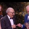 Kad Merad, son père et Olivier Baroux - 44e cérémonie des César le 22 février 2019