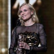 Diane Kruger, Virginie Ledoyen et Monica Bellucci élégantes en noir aux César