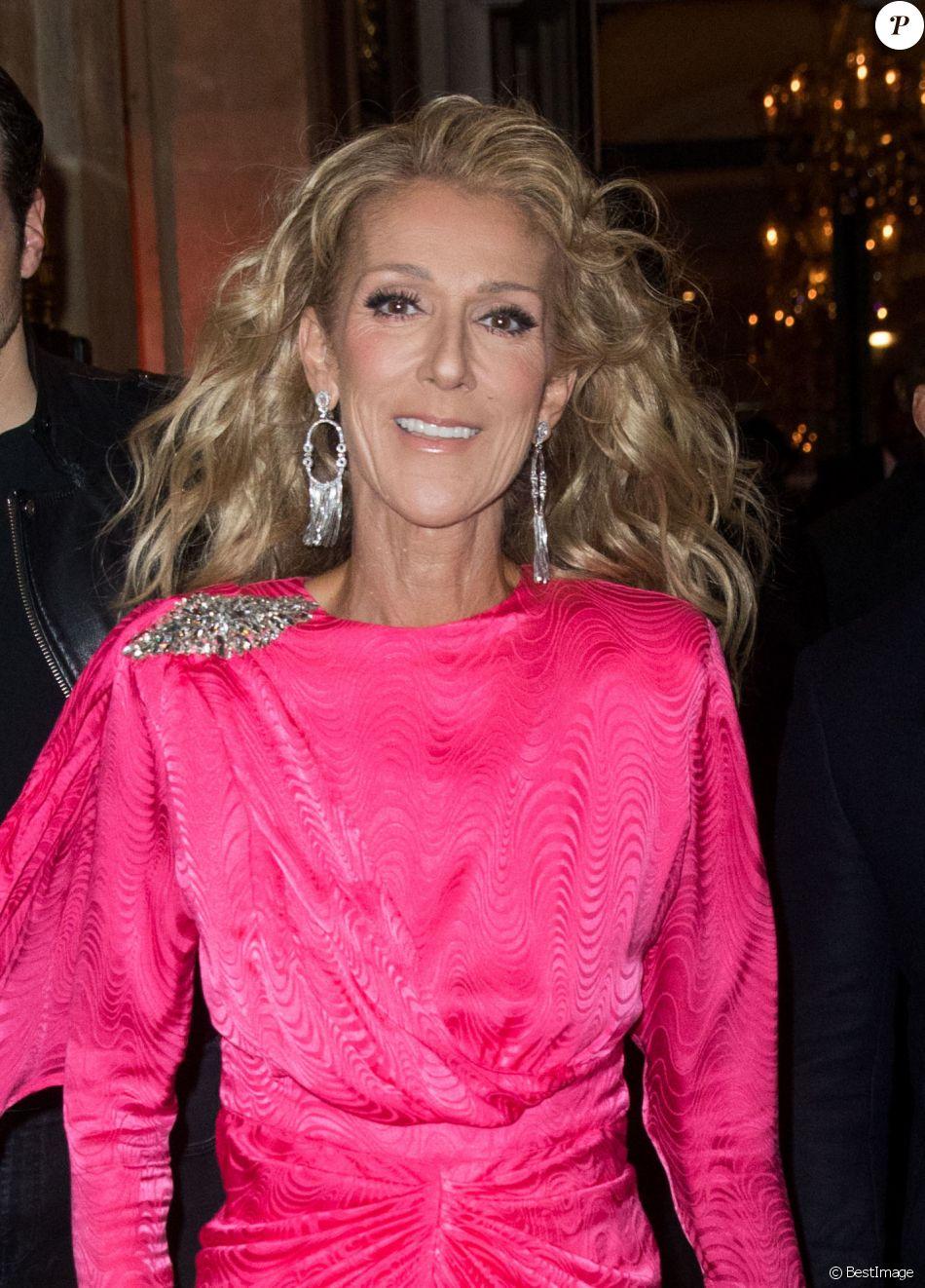 Céline Dion et Pepe Munoz quittent l'hôtel De Crillon pour se rendre Moulin Rouge ou une leurs amies dansait pour la dernière fois sur la scène du célèbre cabaret à Paris le 24 janvier 2019.