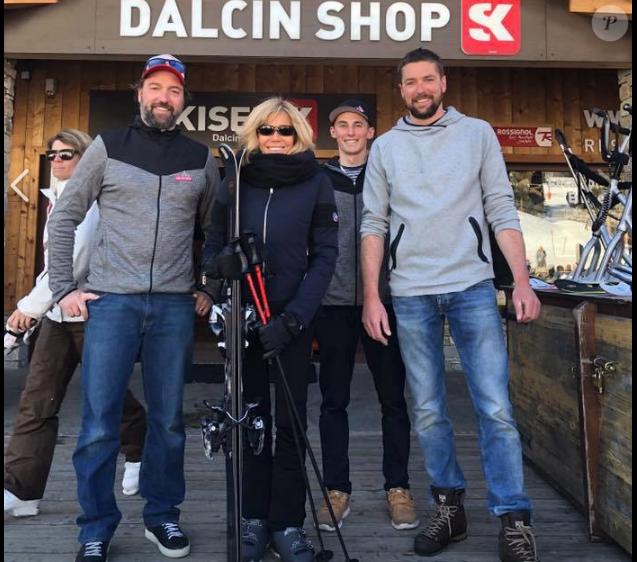 Pierre-Emmanuel et Julian Dalcin ont accueilli la première dame Brigitte Macron dans leur boutique dans la station de Val-Cenis, mardi 26 février 2019.