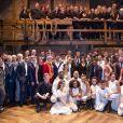 """Le prince Harry, duc de Sussex et Meghan Markle, la Duchesse de Sussex assistent à la comédie musicale """"Hamilton"""" au théâtre Victoria Palace à Londres le 29 aout 2018."""