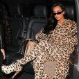 Kim Kardashian quitte le restaurant Ferdi pour se rendre au Costes. Paris, le 5 mars 2019 © Cyril Moreau/Best Image