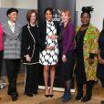 Annie Lennox, Adwoa Aboah, Julia Gillard, Anne McElvoy, Angeline Murimirwa, Chrisann Jarrett - Meghan Markle (enceinte), duchesse de Sussex, lors d'une discussion conjointe avec le Trust The Queen's Commonwealth à l'occasion de la journée mondiale du droit des femmes. Londres, le 8 mars 2019