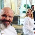 Philippe Etchebest en tournage pour Top Chef sur M6 avec Michel Sarran et Helène Darroze - Instagram