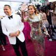 Alex Rodriguez et sa compagne Jennifer Lopez lors du photocall des arrivées de la 91ème cérémonie des Oscars 2019 au théâtre Dolby à Hollywood, Los Angeles, Californie, Etats-Unis, le 24 février 2019. © AMPAS/ZUMA Press/Bestimage