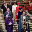La reine Elisabeth II d'Angleterre, le prince Charles, prince de Galles, et Camilla Parker Bowles, duchesse de Cornouailles, le prince William, duc de Cambridge, et Catherine (Kate) Middleton, duchesse de Cambridge, le prince Harry, duc de Sussex, et Meghan Markle, duchesse de Sussex, enceinte, - La famille royale britannique à la messe en l'honneur de la journée du Commonwealth à l'abbaye de Westminster à Londres, Royaume Uni, le 11 mars 2019.