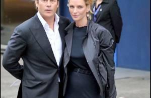 Uma Thurman, en deuil, supporte son fiancé, aux côtés des plus grandes stars...