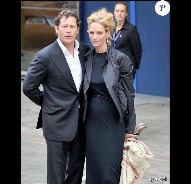 Uma Thurman et son fiancé Arpad Busson