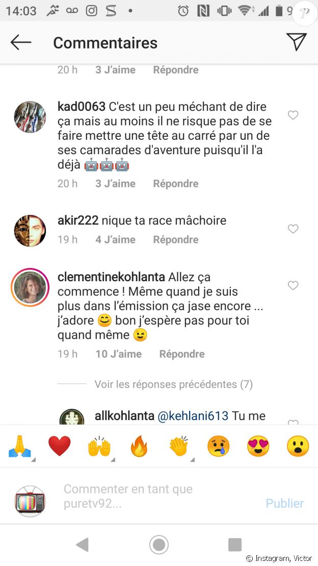 """Clémentine de """"Koh-Lanta"""" répond aux critiques visant Victor"""