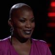 "Janice Freeman dans ""The Voice US"" en 2017."