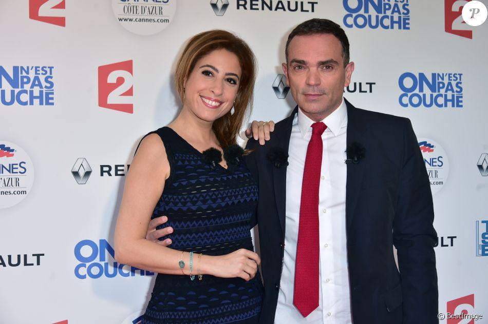 Léa Salamé et Yann Moix à Cannes le 18 mai 2016