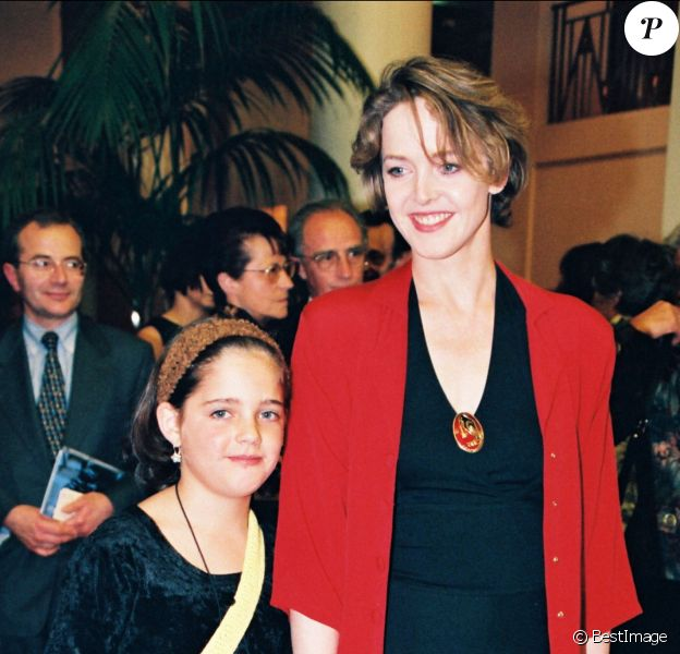 Agnès Soral et sa fille Laetitia au gala de l'espoir en 1998