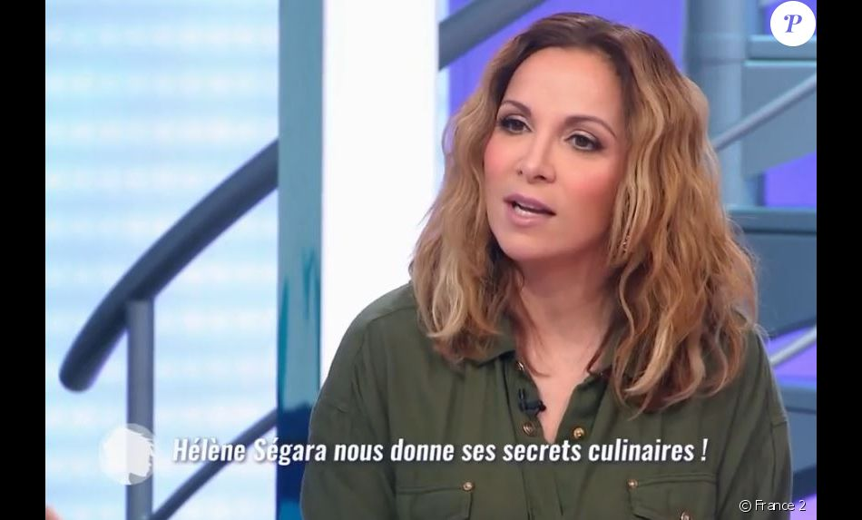 Hélène Ségara dans C'est au programme, le 25 mars 2019 sur France 2.