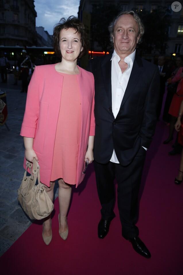 Anne Roumanoff et son ex-mari Philippe Vaillant - Gala de l'IFRAD au Cirque D'Hiver à Paris le 25 septembre 2013.