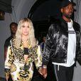 Khloe Kardashian et Tristan Thompson quittent le restaurant Craig à West Hollywood le 17 août 2018.