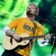 Ed Sheeran en concert à l'Allianz Parque à Sao Paulo, le 13 février 2019.
