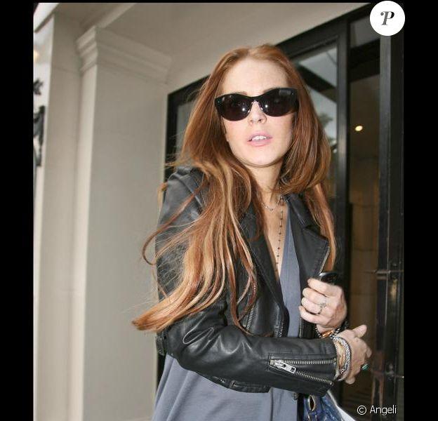 Lindsay Lohan faisant du shopping chez Harvey Nichols