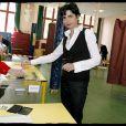 Rachida Dati vote pour les élections européennes à la Motte-Picquet-Grenelle à Paris le 7 juin 2009
