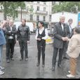 Rachida Dati et Michel Barnier font le tour de certains bureaux de vote de Paris le 7 juin 2009