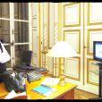 Rachida Dati dans son bureau de la mairie du VIIe arrondissement à Paris avant la proclamation des résultats officiels le 7 juin 2009