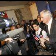 Rachida Dati et Michel Barnier dans le quartier général de campagne de l'UMP le 7 juin 2009