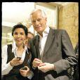 Rachida Dati et Michel Barnier s'isolent dans un des bureaux du quartier général de campagne de l'UMP le 7 juin 2009