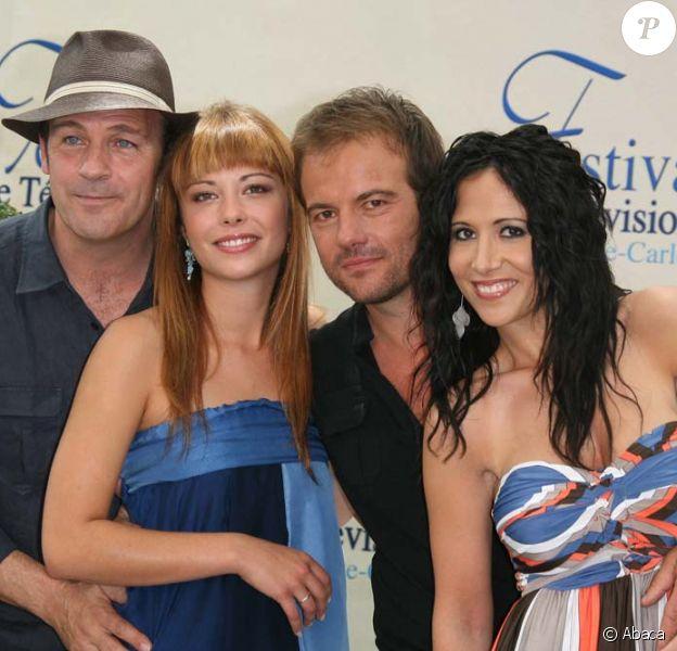 Dounia Coesens, Serge Dupire, Fabienne Carat et Stéphane Hénon au 49ème Festival de Monte-Carlo, le 8 juin 2009