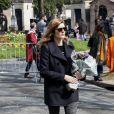 Chiara Mastroianni - Arrivées aux obsèques d'Agnès Varda au Cimetière du Montparnasse à Paris, le 2 avril 2019.