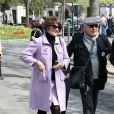 Macha Méril - Arrivées aux obsèques d'Agnès Varda au Cimetière du Montparnasse à Paris, le 2 avril 2019.