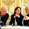 Caroline de Monaco et Karl Lagerfeld à Paris en 2002.