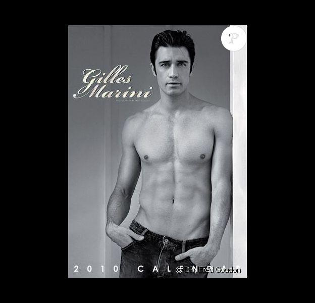 Gilles Marini immortalisé par Fred Goudon pour son calendrier 2010...