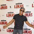 """Jean-Claude Van Damme fait le show lors de l'avant-première du film """"Lukas"""" à Paris le 20 août 2018"""