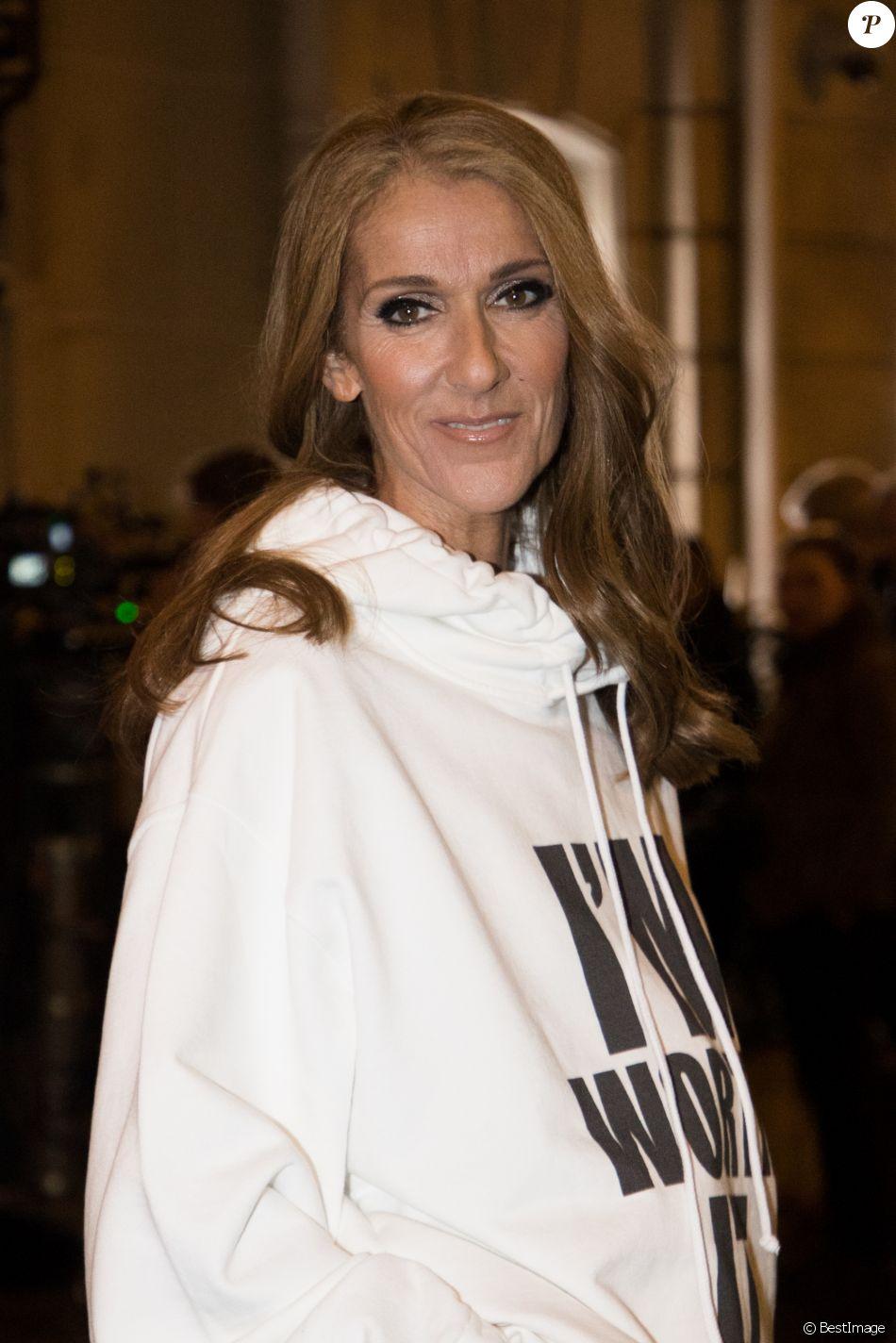 Céline Dion à la sortie de l'hôtel Plaza Athénée après le tournage pour l'Oréal à Paris, France, le 30 janvier 2019.